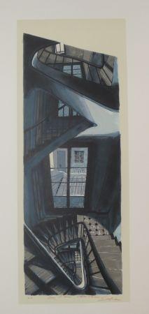 Литография Szafran - L'escalier de Saint germain