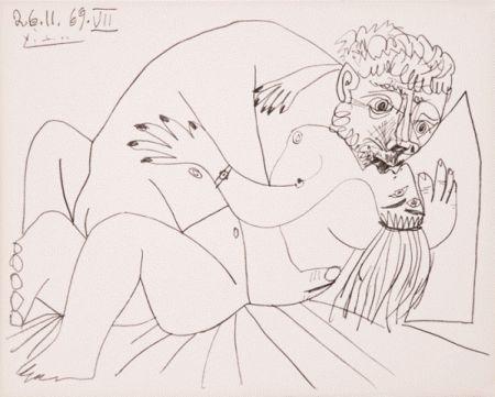 Литография Picasso - L'etreinte Vii
