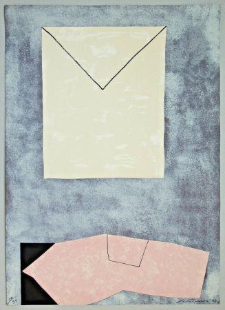 Литография Santomaso - Lettera