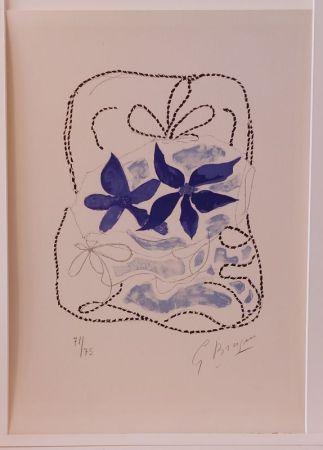 Литография Braque - Lettera Amorosa : Les deux iris bleus