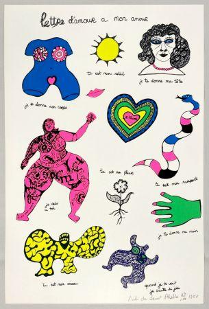 Сериграфия De Saint Phalle - Lettre d'amour à mon amour