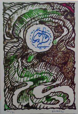 Литография Alechinsky - L'excédante 2