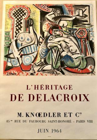 Литография Picasso - L'héritage De Delacroix