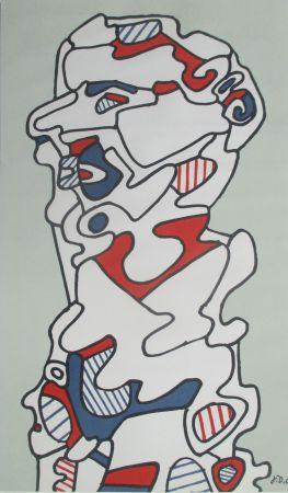 Литография Dubuffet - L'Homme