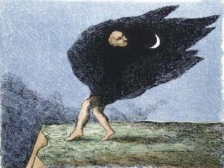 Литография Topor - L'homme à la cape