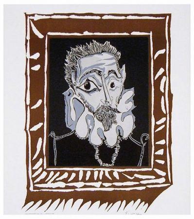 Литография Picasso - L'Homme à la Fraise (Man with Ruff)