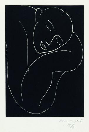 Акватинта Matisse - L'Homme endormie