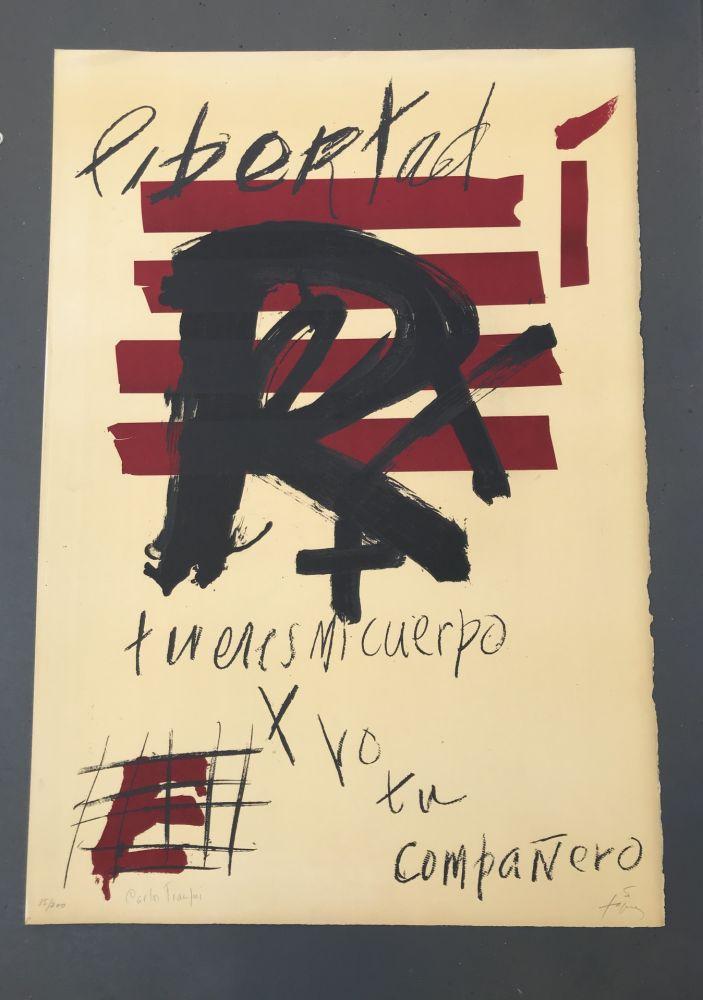Литография Tàpies - Libertad