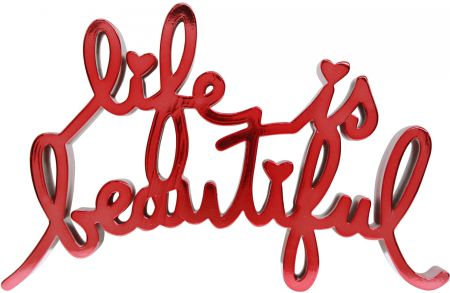 Многоэкземплярное Произведение Mr Brainwash - Life is beautiful - hard candy light red