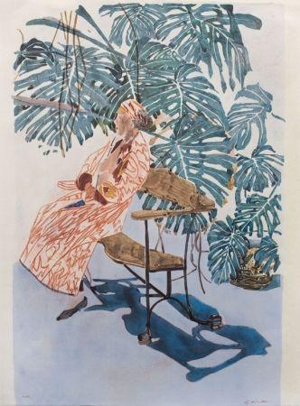 Литография Szafran - Lilette à la chaise de Gaudi,