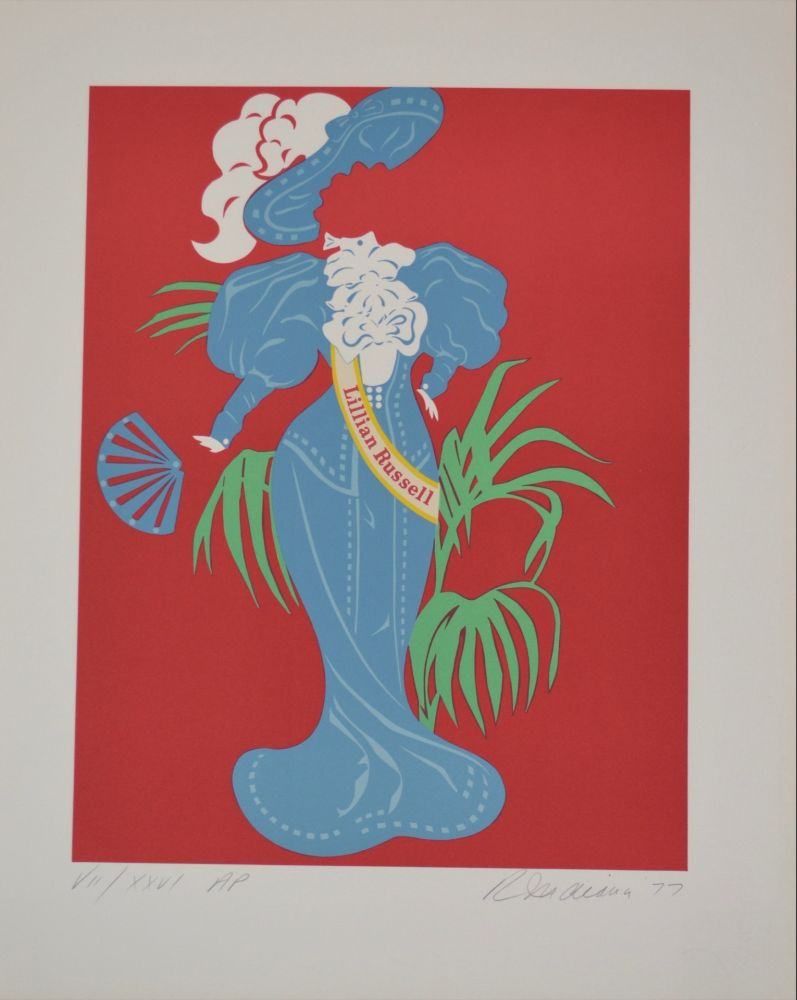 Литография Indiana - Lilian Russell - Mother of us all portfolio