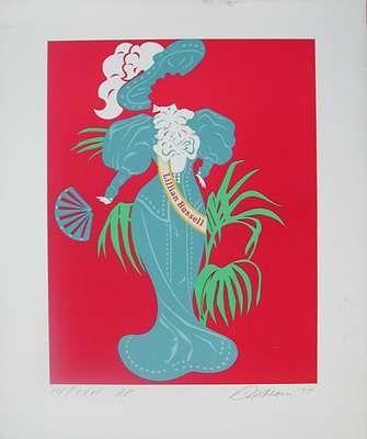 Сериграфия Indiana - Lillian Russell