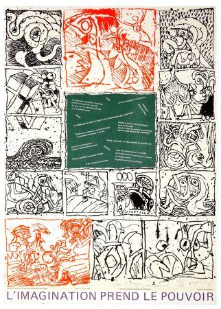 Литография Alechinsky - L'imagination prend le pouvoir