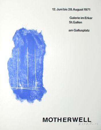 Литография Motherwell - Lines for St. Gallen