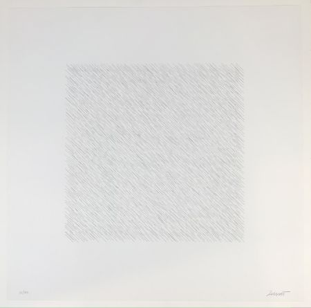 Литография Lewitt - Lines of One Inch Four Directions Four Colors
