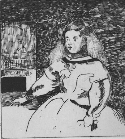 Офорт Manet - L'infante Marguerite
