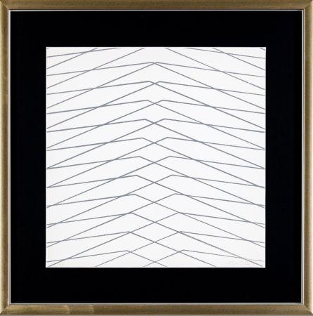 Сериграфия Morellet - L'instabilità come condizione umana