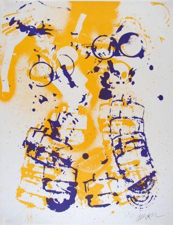 Литография Arman - L'intérieur des choses V : Le Masque à Gaz
