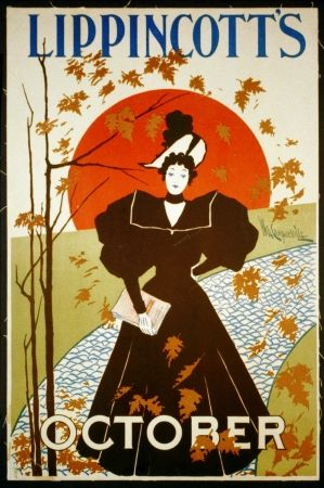 Литография Carqueville - Lippincott's October