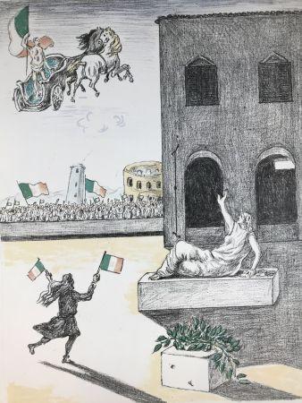 Литография De Chirico - L'Italia del centenario