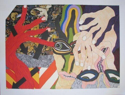 Литография Tola - Lithograph-collage