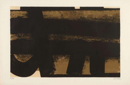 Литография Soulages - Lithographie 35 – 1974