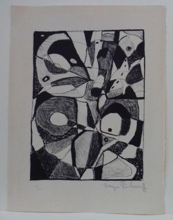 Литография Poliakoff - Lithographie en noir n°1