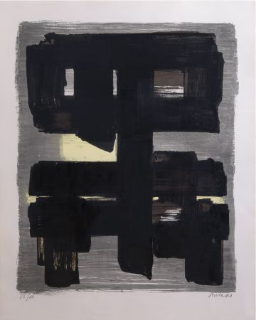 Литография Soulages - Lithographie n°1