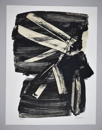 Литография Soulages - Lithographie n°10