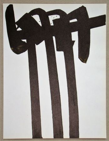Литография Soulages - Lithographie N°28