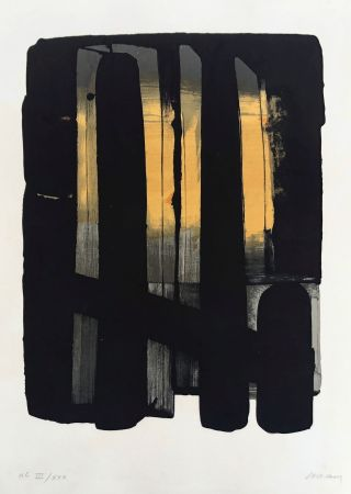 Литография Soulages - Lithographie n°38