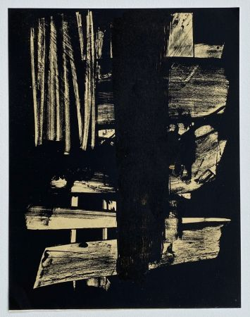 Литография Soulages - Lithographie n°9