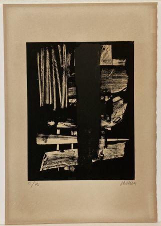 Литография Soulages - Lithographie n° 9, 1959. Signée et numérotée.