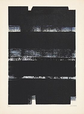 Литография Soulages - Lithographie No. 32a