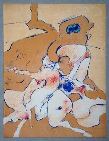 Литография Tanning - Lithographie originale pour XXe Siècle