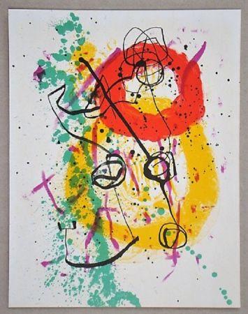 Литография Miró - Lithographie pour XXe Siècle