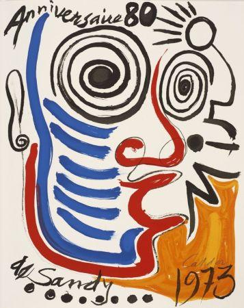 Литография Calder - Lithographie sur vélin d'Arches. Signée