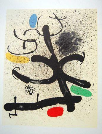 Литография Miró - Litografia Original Derriere Le Miroir - 1971
