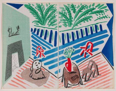 Гашение Hockney - Livingroom and Terrace