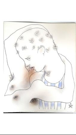 Литография Cocteau - Livre Blanc