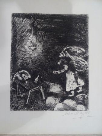 Офорт Chagall - L'Ivrogne et sa Femme