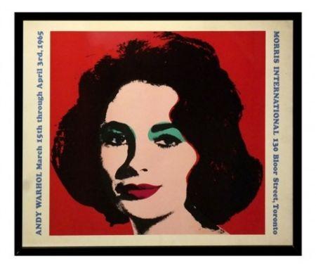 Литография Warhol - Liz taylor