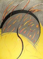 Литография Miralles - Llamas / Flames