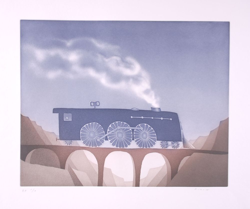 Офорт И Аквитанта Folon - Locomotive (suite TOYS)