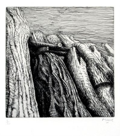 Гравюра Moore - Log pile III