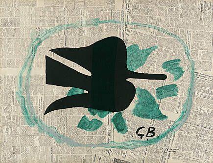 Литография Braque - L'oiseau dans le feuillage