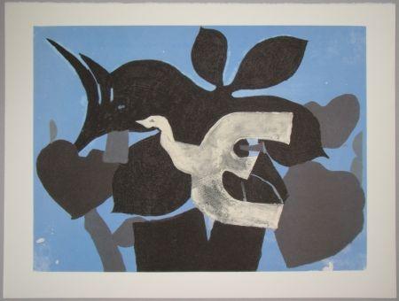 Литография Braque - L'oiseau dans le paulownia