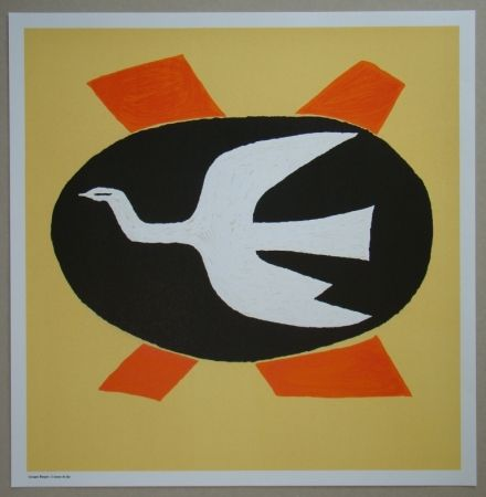 Литография Braque - L'oiseau de feu, 1958