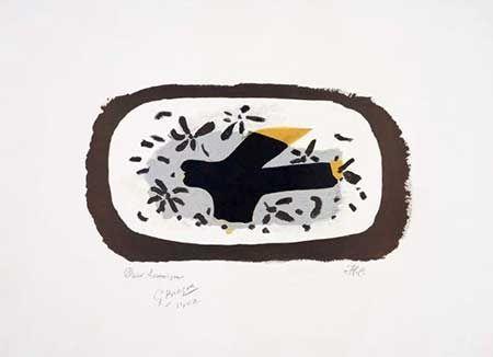 Литография Braque - L'oiseau D'octobre