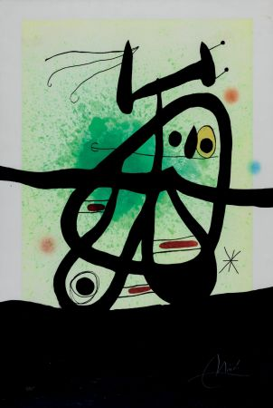 Офорт И Аквитанта Miró - L'Oiseau Mongol